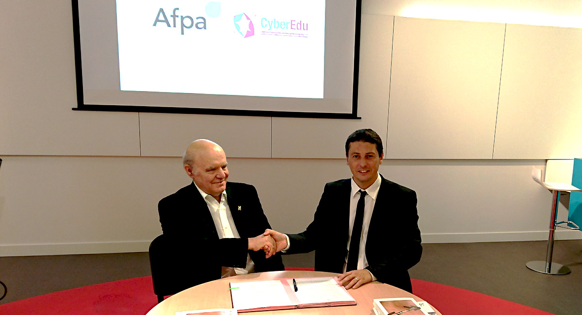 Signature de la convention Afpa/CyberEdu